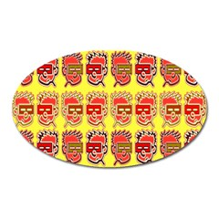 Funny Faces Oval Magnet