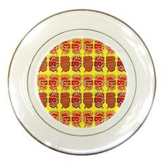 Funny Faces Porcelain Plates