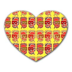 Funny Faces Heart Mousepads