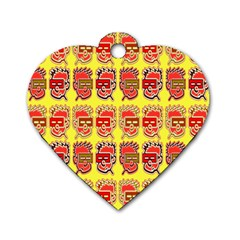 Funny Faces Dog Tag Heart (Two Sides)