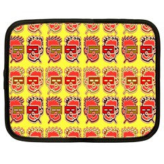 Funny Faces Netbook Case (large)