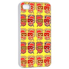 Funny Faces Apple Iphone 4/4s Seamless Case (white)