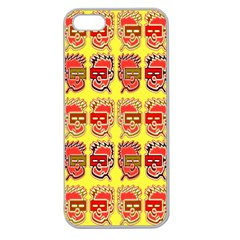 Funny Faces Apple Seamless Iphone 5 Case (clear)