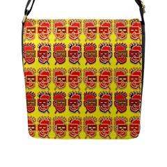 Funny Faces Flap Messenger Bag (l)