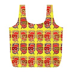 Funny Faces Full Print Recycle Bags (l)