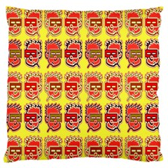 Funny Faces Large Flano Cushion Case (one Side)