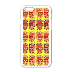 Funny Faces Apple Iphone 6/6s White Enamel Case