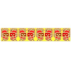 Funny Faces Flano Scarf (large)