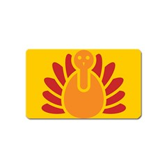 Animals Bird Pet Turkey Red Orange Yellow Magnet (name Card)