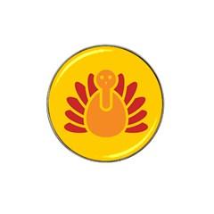Animals Bird Pet Turkey Red Orange Yellow Hat Clip Ball Marker (4 Pack)