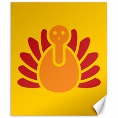 Animals Bird Pet Turkey Red Orange Yellow Canvas 20  x 24