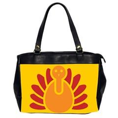 Animals Bird Pet Turkey Red Orange Yellow Office Handbags (2 Sides)