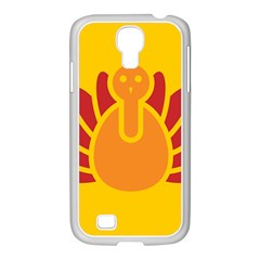 Animals Bird Pet Turkey Red Orange Yellow Samsung Galaxy S4 I9500/ I9505 Case (white)