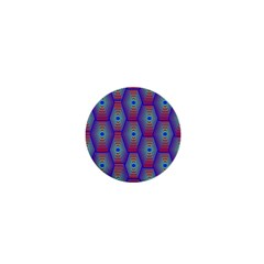 Red Blue Bee Hive Pattern 1  Mini Buttons