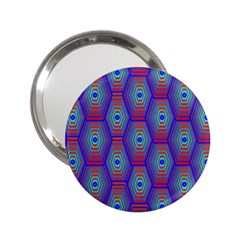 Red Blue Bee Hive Pattern 2 25  Handbag Mirrors