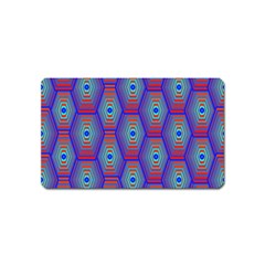 Red Blue Bee Hive Pattern Magnet (name Card)
