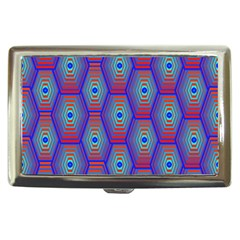 Red Blue Bee Hive Pattern Cigarette Money Cases