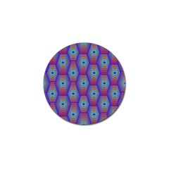 Red Blue Bee Hive Pattern Golf Ball Marker (10 Pack)