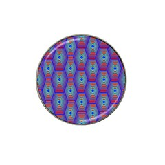Red Blue Bee Hive Pattern Hat Clip Ball Marker