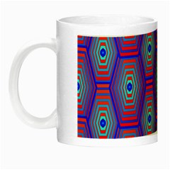 Red Blue Bee Hive Pattern Night Luminous Mugs
