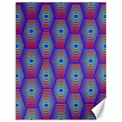 Red Blue Bee Hive Pattern Canvas 12  X 16