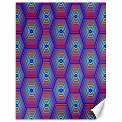 Red Blue Bee Hive Pattern Canvas 18  x 24