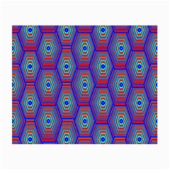 Red Blue Bee Hive Pattern Small Glasses Cloth (2-Side)