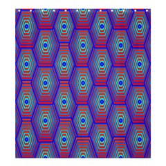 Red Blue Bee Hive Pattern Shower Curtain 66  X 72  (large)