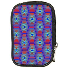 Red Blue Bee Hive Pattern Compact Camera Cases