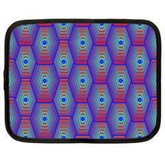 Red Blue Bee Hive Pattern Netbook Case (xl)