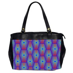Red Blue Bee Hive Pattern Office Handbags (2 Sides)