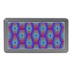 Red Blue Bee Hive Pattern Memory Card Reader (Mini)