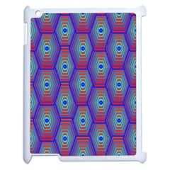 Red Blue Bee Hive Pattern Apple Ipad 2 Case (white)