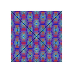 Red Blue Bee Hive Pattern Acrylic Tangram Puzzle (4  X 4 )