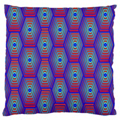 Red Blue Bee Hive Pattern Large Cushion Case (one Side)