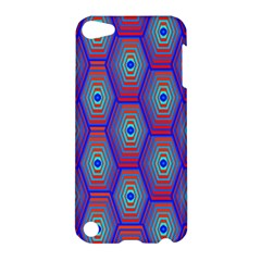 Red Blue Bee Hive Pattern Apple iPod Touch 5 Hardshell Case