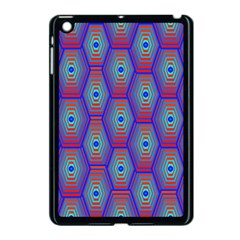 Red Blue Bee Hive Pattern Apple Ipad Mini Case (black)
