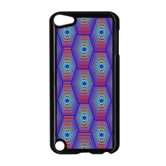 Red Blue Bee Hive Pattern Apple Ipod Touch 5 Case (black)
