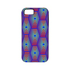 Red Blue Bee Hive Pattern Apple Iphone 5 Classic Hardshell Case (pc+silicone)