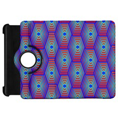 Red Blue Bee Hive Pattern Kindle Fire Hd 7