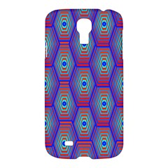 Red Blue Bee Hive Pattern Samsung Galaxy S4 I9500/i9505 Hardshell Case