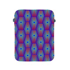 Red Blue Bee Hive Pattern Apple Ipad 2/3/4 Protective Soft Cases