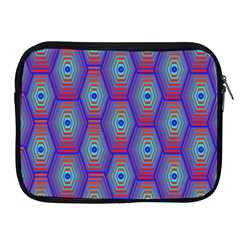Red Blue Bee Hive Pattern Apple Ipad 2/3/4 Zipper Cases