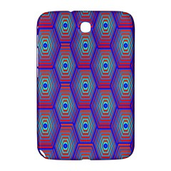 Red Blue Bee Hive Pattern Samsung Galaxy Note 8 0 N5100 Hardshell Case
