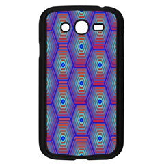 Red Blue Bee Hive Pattern Samsung Galaxy Grand Duos I9082 Case (black)