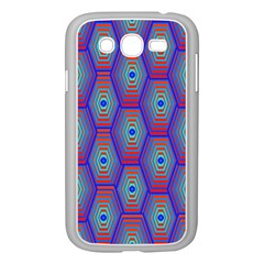 Red Blue Bee Hive Pattern Samsung Galaxy Grand Duos I9082 Case (white)