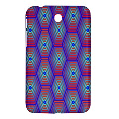Red Blue Bee Hive Pattern Samsung Galaxy Tab 3 (7 ) P3200 Hardshell Case