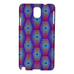 Red Blue Bee Hive Pattern Samsung Galaxy Note 3 N9005 Hardshell Case