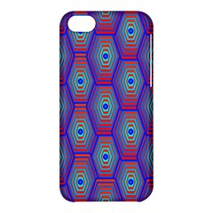 Red Blue Bee Hive Pattern Apple Iphone 5c Hardshell Case