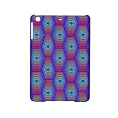 Red Blue Bee Hive Pattern Ipad Mini 2 Hardshell Cases